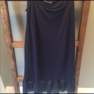 Altar'd State Navy small sleep camisole slip NWT